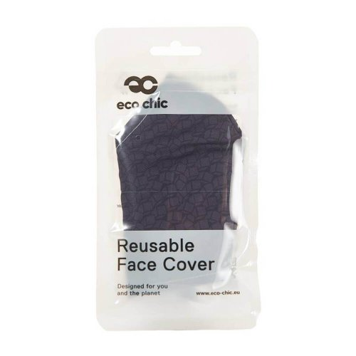 Eco Chic Black Disrupted Cubes Face Cover