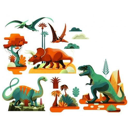 Djeco Αυτοκόλλητα παράθυρου Δεινόσαυροι