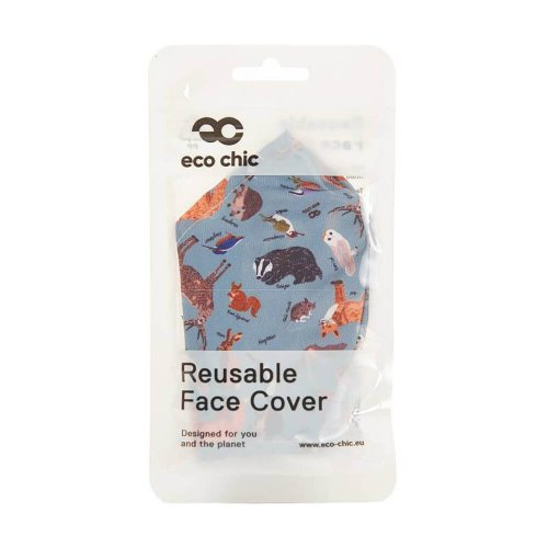 Eco Chic Olive Woodland Face Cover