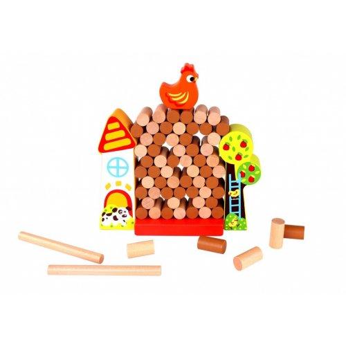 Tooky Toy Ξύλινη φάρμα με τσάντα αποθήκευσης