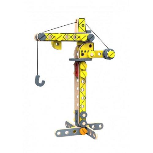 Tooky Toy Ξύλινη Κατασκευή Γερανός