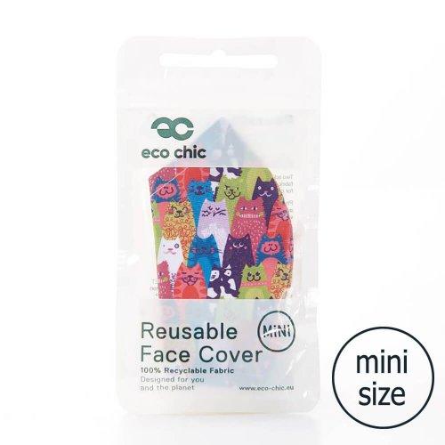 Eco Chic Cats Face Cover Mini
