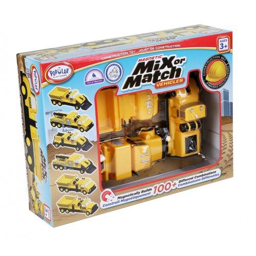 Popular Μαγνητικά Οχήματα Οικοδομής  MIX OR MATCH