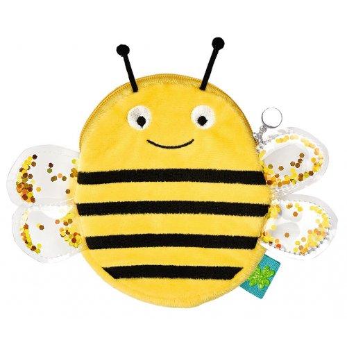 Moses Βελούδινο πορτοφολάκι Μέλισσα και Πεταλόυδα