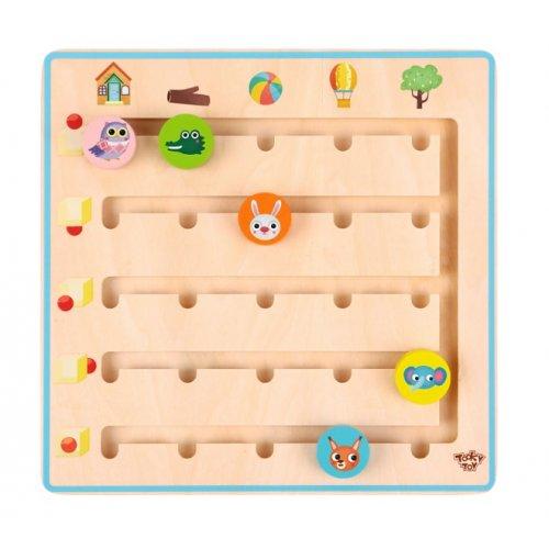 Tooky Toy Ξύλινο Παιχνίδι Που πάνε τα ζωάκια