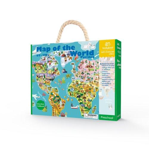 Tooky Toy Παζλ Παγκόσμιος Χάρτης 500 τεμ.