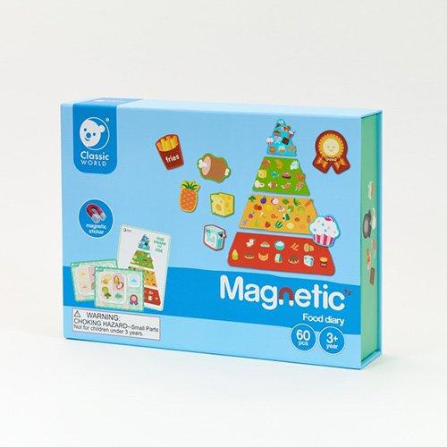 Classic World Μαγνητικό Παιχνίδι - Διατροφική πυραμίδα