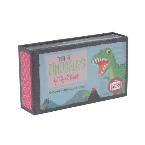 Tiger Tribe Σετ φορητού παιχνιδιού Δεινόσαυροι με 6 φιγούρες