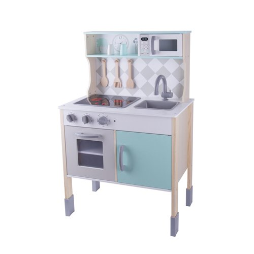 Classic World Ξύλινη Κουζίνα με κουζινικά