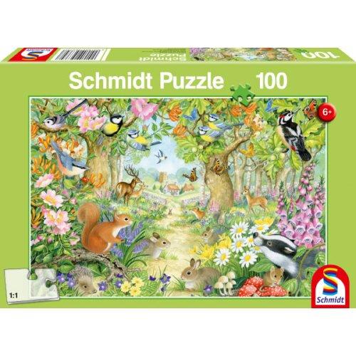 Schmidt Παζλ Ζώα στο δάσος 100 τεμ.