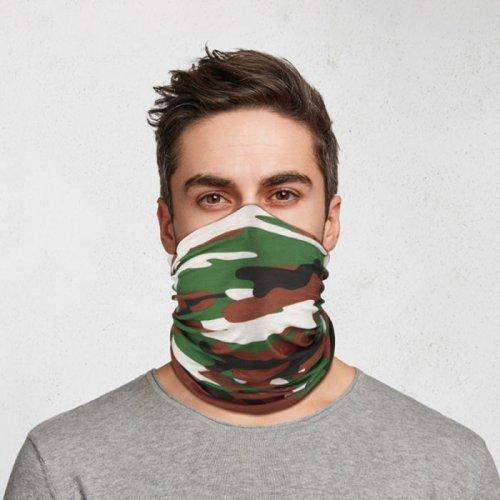 Puckator Κάλυμμα Λαιμού και Μάσκα προστασίας προσώπου Camouflage - One Size