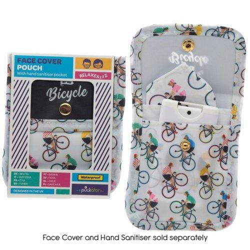 Puckator Θήκη Μάσκας & Αντισηπτικού Ποδήλατο