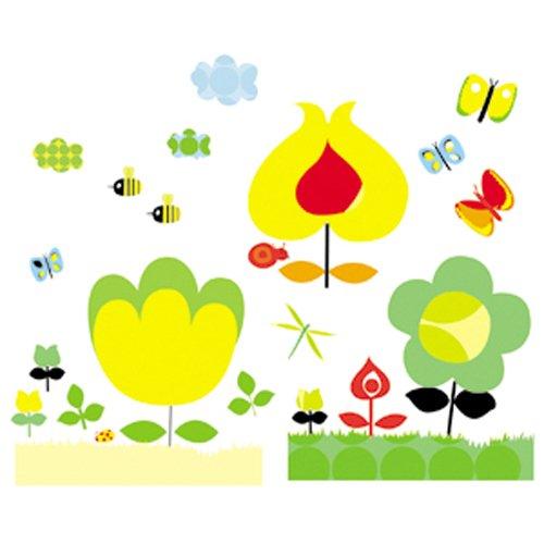 Djeco Διακοσμητικά αυτοκόλλητα τοίχου Κίτρινα Λουλούδια