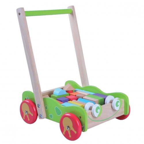 Gerardos toys Ξύλινη Περπατούρα με κύβους Βάτραχος