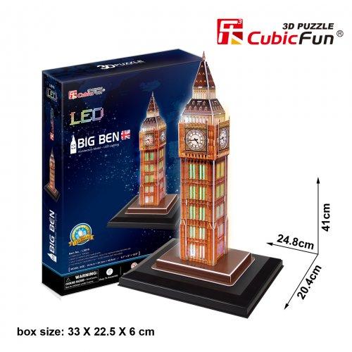Cubic Fun 3D Παζλ Big Ben London με Φωτισμό Led 28 τεμ.