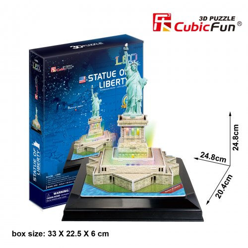 Cubic Fun 3D Παζλ Statue Of Liberty με Φωτισμό Led 37 τεμ.
