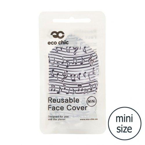 Eco Chic White Music Face Cover Mini