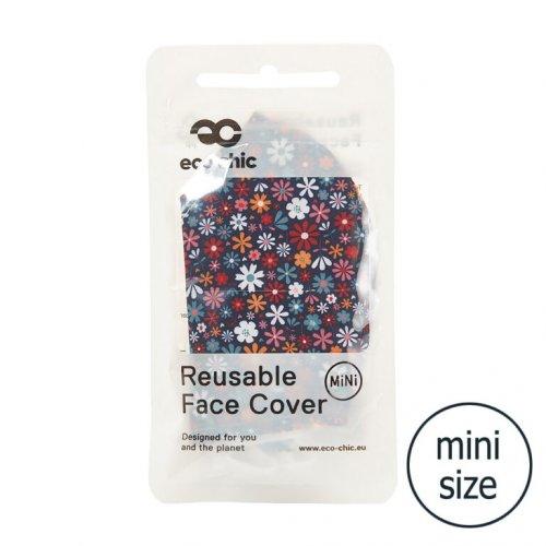 Eco Chic Black Ditsy Face Cover Mini