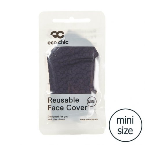 Eco Chic Black Disrupted Cubes Face Cover Mini