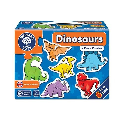 Orchard Toys: Dinosaurs 2 Piece Puzzles